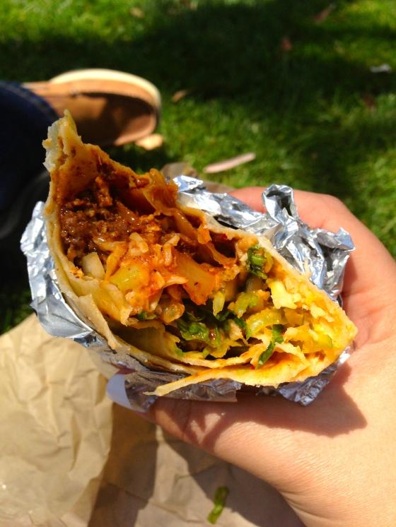 short rib & kimchi burrito